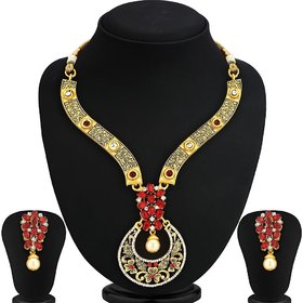 Ankur trendy gold plated necklace set for women