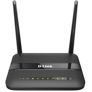 D Link 2750U/IN/I Wireless N300 ADSL2 Router with Modem  Black