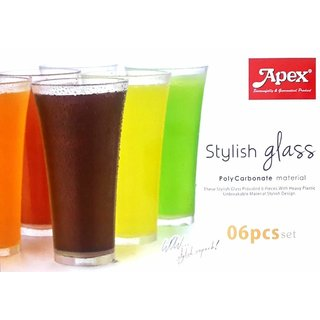 KAPDHOLIA HIGH QUALITY WATER, WISHKEY AND JUICE GLASS IN 300ml