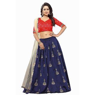Bhuwal fashion Banglory silk semi stiched embroidery lehanga choli -TM6060