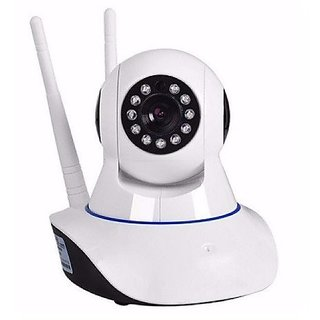 Wireless Dual Antenna HD IP WiFi Indoor Security CCTV Camera Video Monitor with 2 Way Audio Chat Motion Detection (Whi