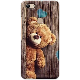Ezellohub Printed Design Soft Silicon Mobile back cover for Vivo Y81 - teaddy side