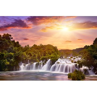 loverly water fall scenery  Motivational PosterInspirational PosterPosters for lifeCountry LoveReligiousAll  Time PostersTechnology PosterPoster About LifeHomeDecorPosterPoster for Every Room,Office, GYM300 GSM HD Paper Print