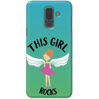 Ezellohub Printed Design Soft Silicon Mobile back cover for Samsung A6 Plus - this girl