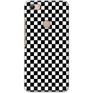 Ezellohub Printed Design Soft Silicon Mobile back cover for Vivo Y81 - black and white