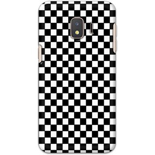 Ezellohub Printed Design Soft Silicon Mobile back cover for Samsung Galaxy J2 Core - black and white