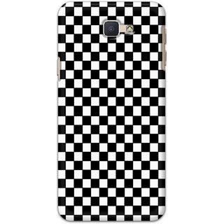 Ezellohub Printed Design Soft Silicon Mobile back cover for Samsung Galaxy J5 Prime - black and white