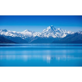 mountain water tree scenry 1   |Sticker Paper Poster, 12x18 Inch