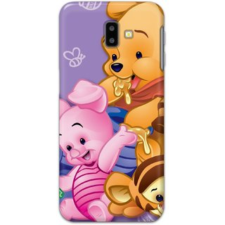 Ezellohub Printed Design Soft Silicon Mobile back cover for Samsung Galaxy J6 Plus - winnie the pooh