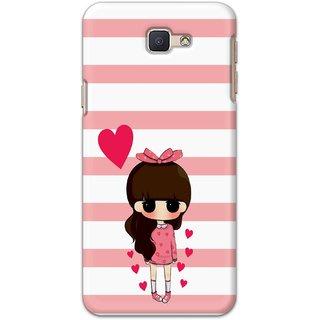 Ezellohub Printed Design Soft Silicon Mobile back cover for Samsung Galaxy J5 Prime - girl heart