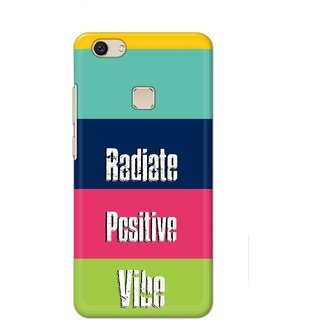 Ezellohub Printed Design Soft Silicon Mobile back cover for Vivo V7 Plus - vibe
