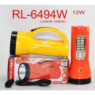 Rock Light RL-649 12 Watt LASER and 24 SMD Emergency Light With Heavy Backup