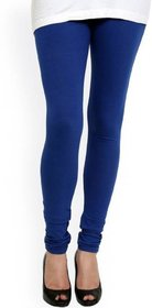 Women solid cotton blue legi
