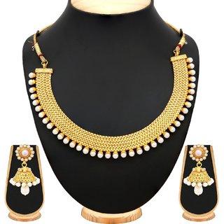 Sukkhi Modish Gold Plated Necklace Set For Women