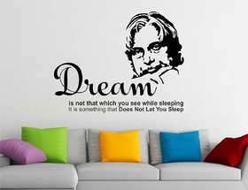 Asmi Collections PVC Wall Stickers APJ Abdul Kalam Motivational Quotes