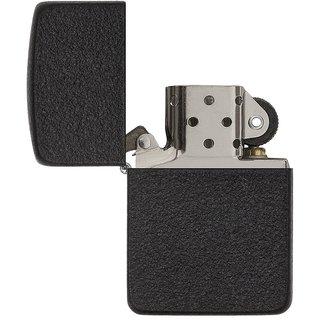 ZIPPO TYPE BLACK Refillable Cigarette Gas Lighter