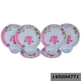 Pink Dinner Set - 12 Pieces