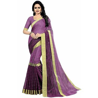 2a42b1b640 Indian Style Women's Wine Chanderi Cotton Sarees With Blouse. Rs. 299