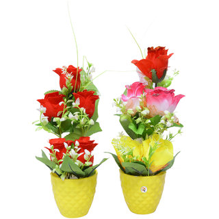 Beautiful Yellow Color Flower Pot For Home Decoration Set of 2