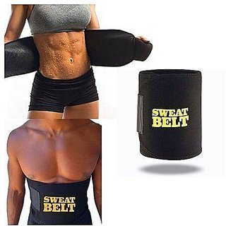 Discount Point Regular Sweat Belt Slimming Belt for Lower Body (Black)