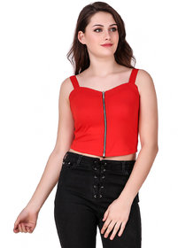 Texco Red Crop Top for Women