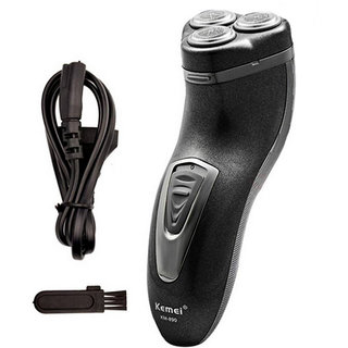 Kemei KM-890 Rechargeable corded and cordless shaver with pop up trimmer for men