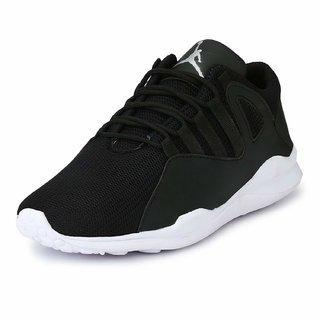 Sufis Men's Black Running Shoe