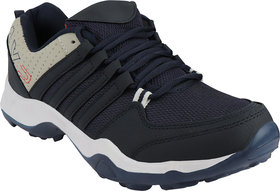 Chevit 445 Sports Shoes (Walking  Gym Shoes) Running Shoes For Men (Blue, Grey)