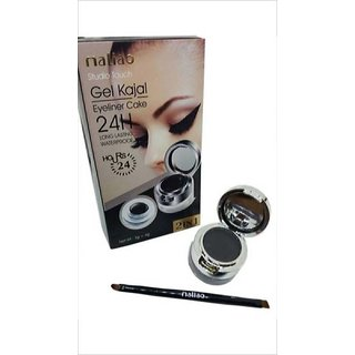 Maliao  Gel Kajal + Eyeliner Cake 24H Long Lasting Waterproof 2 In 1 12 g  (Black)