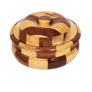Wooden Hot Case Casserole With Steel Body Inside