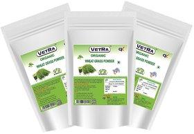 Vetra Organic Wheat Grass Powder 300 Grams (100 Grams Combo)
