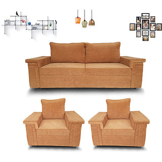 Houzzcraft Mobi sofa set 3+1+1 in fabric