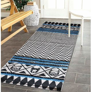 The Home Talk Cotton with Tufting Floor Rug (Multicolour 60x150cm)