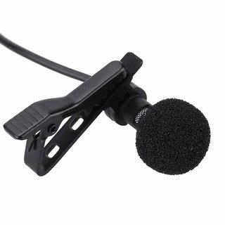 deals e Unique Collar Mike Clip Microphone 3.5mm For Voice Recording Youtube Vedio Lapel Mic Mobile Pc Laptop Camera