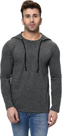 Jangoboy Men's Hoodie Full Sleeves Dual Tone Round Neck Casual Tshirt