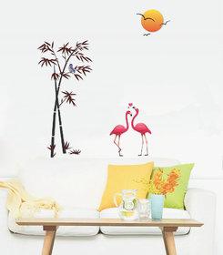 EJA Art Sunset Swan Love Wall Sticker