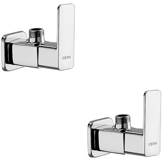 Cera - Angle Cock With Wall Flange Set Of 2 Pcs