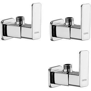 Cera - Angle Cock With Wall Flange Set Of 3 Pcs