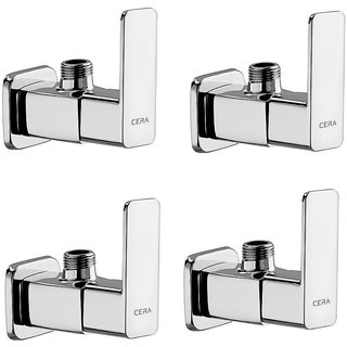 Cera - Angle Cock With Wall Flange Set Of 4 Pcs