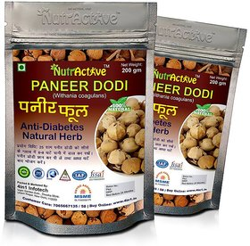 Nutractive Paneer Dodi / Indian Rennet / Paneer Doda / Withania Coagulans / Anti -Diabetic  Weight Loss Herb -(200GM-2PCK)