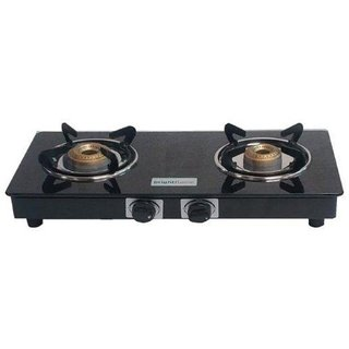 Brightflame 2 Burner Compact Manual CI Burner Glass Cook Top