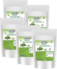 Vetra Organic Wheatgrass Powder (5 Packs COMBO) - 100 Grams