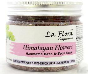 Himalayan Flowers Bath Salt  foot soak Himalayan Pink Salt ,Epsom salt,Lavender  roses-300 gms