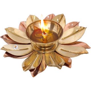 Brass Lotus Deepak