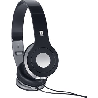 iball SoundMate E9 Wired Headset with Mic (Black Over the Ear)