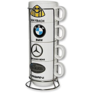 Eastern Club Stylish Matt Finish Elegant Car Logo Print Design Printed Ceramic Tea/Coffee Mug for Office Home Medium M