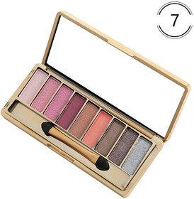 Dazzle Bright 9 Colors Eyeshadow Textured Pallete Make up Eye Shadow Palette
