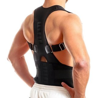 U.S.Traders Black Posture Back Support Brace For Neck Back Pain Relief For Men Women