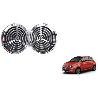 KunjZone Roots Megasonic Chrome Horn Set of 2 Pcs For Fiat C Class