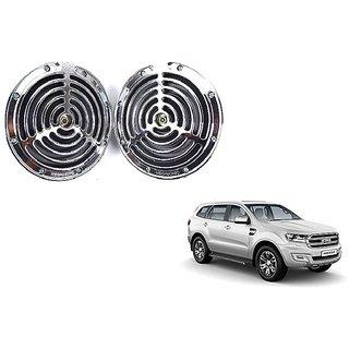 KunjZone Roots Megasonic Chrome Horn Set of 2 Pcs For Ford Endeavour
